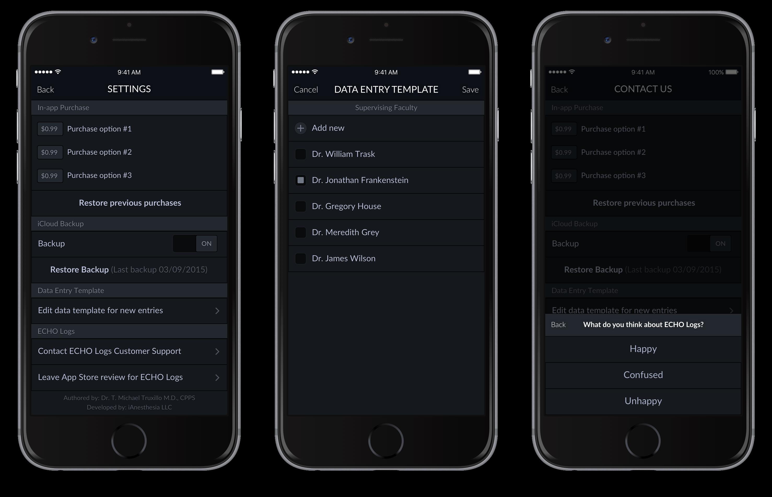 Echo Logs – iPhone 6